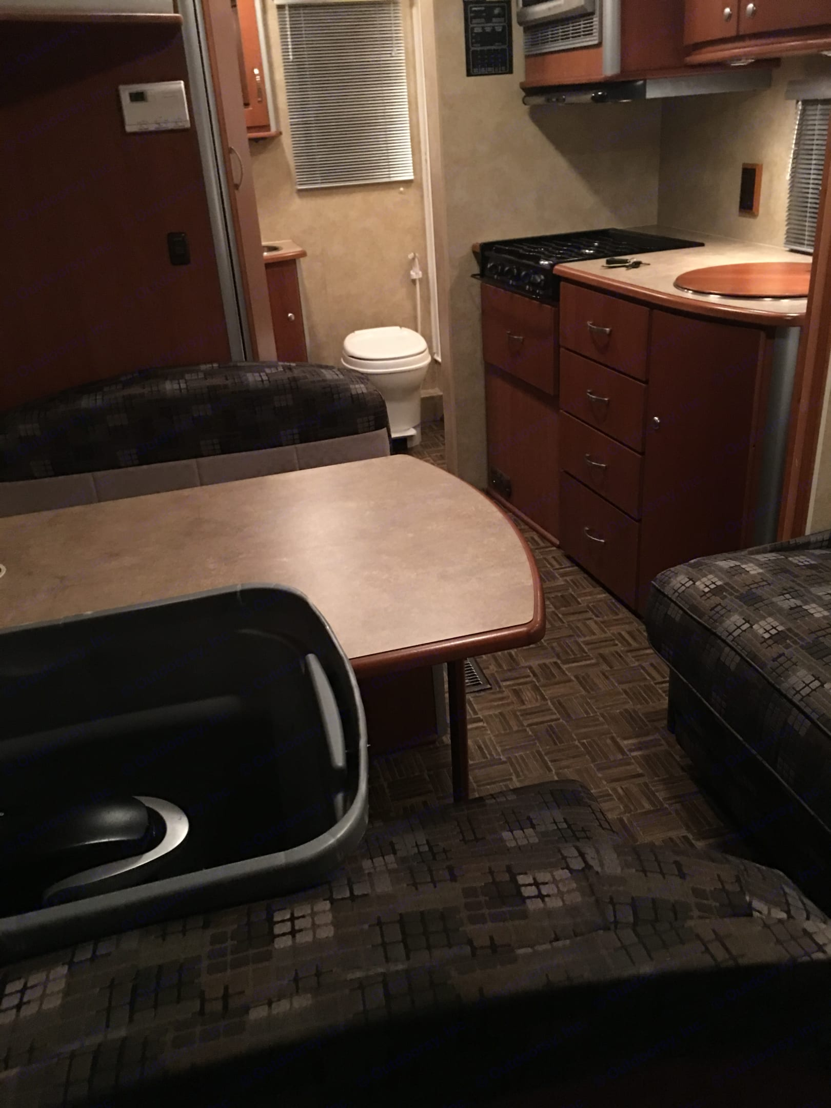 Table folds down to a bed.. Winnebago View 2008