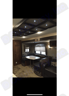 Interior U shaped dinette . Coachmen Freedom Express 2016