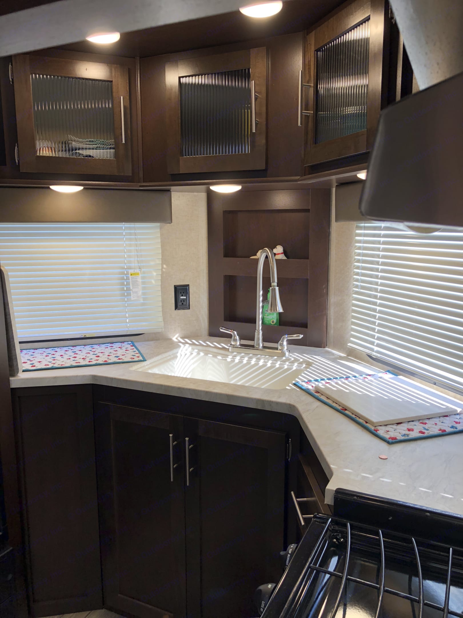 Front kitchen with plenty of counter space.. Forest River Cherokee 2018