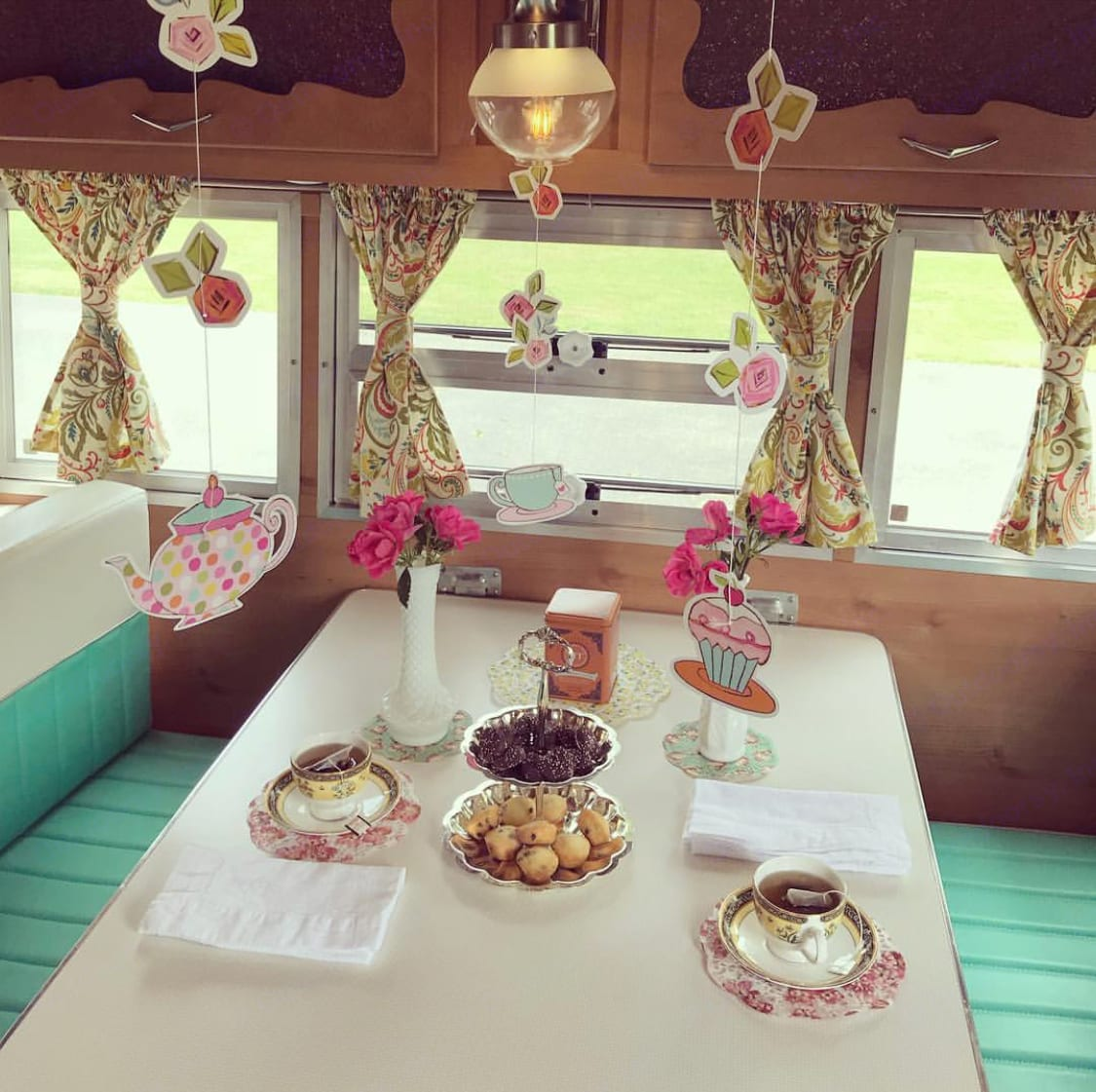 It's easy to plan the perfect gathering in this stylish camper!. Shasta Airflyte 2015