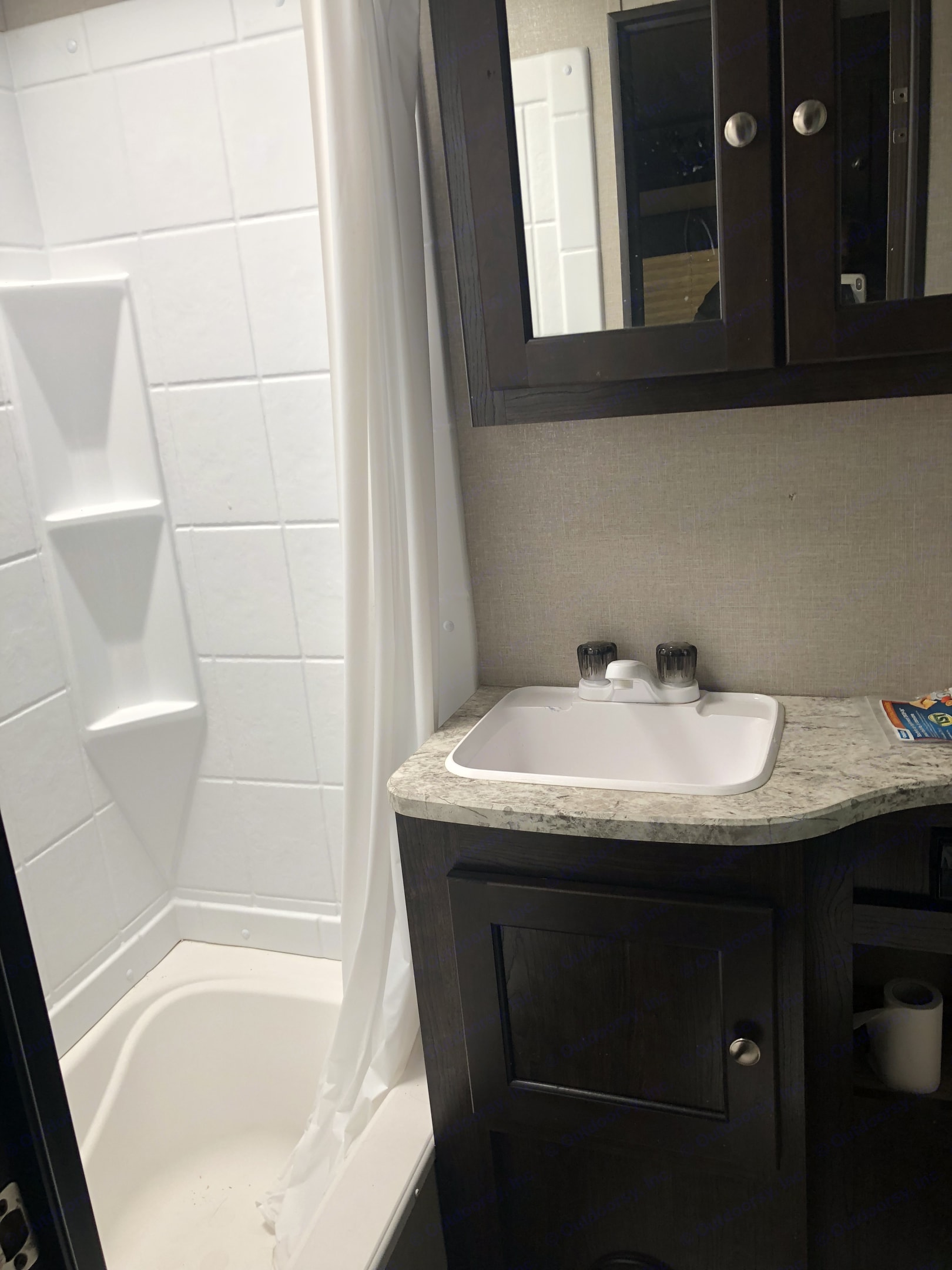 Convenience of shower and toilet.. Cruiser Rv Corp Cruiser 2017