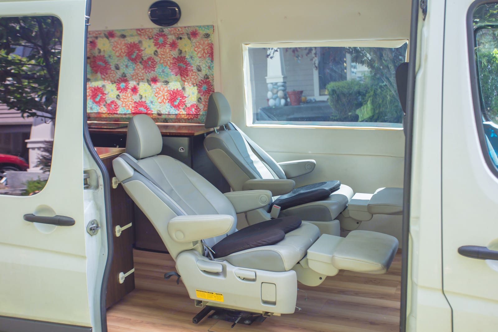 Relax on the reclining seats; or buckle up little ones in car seats with LATCH support.. Mercedes-Benz Sprinter 2010