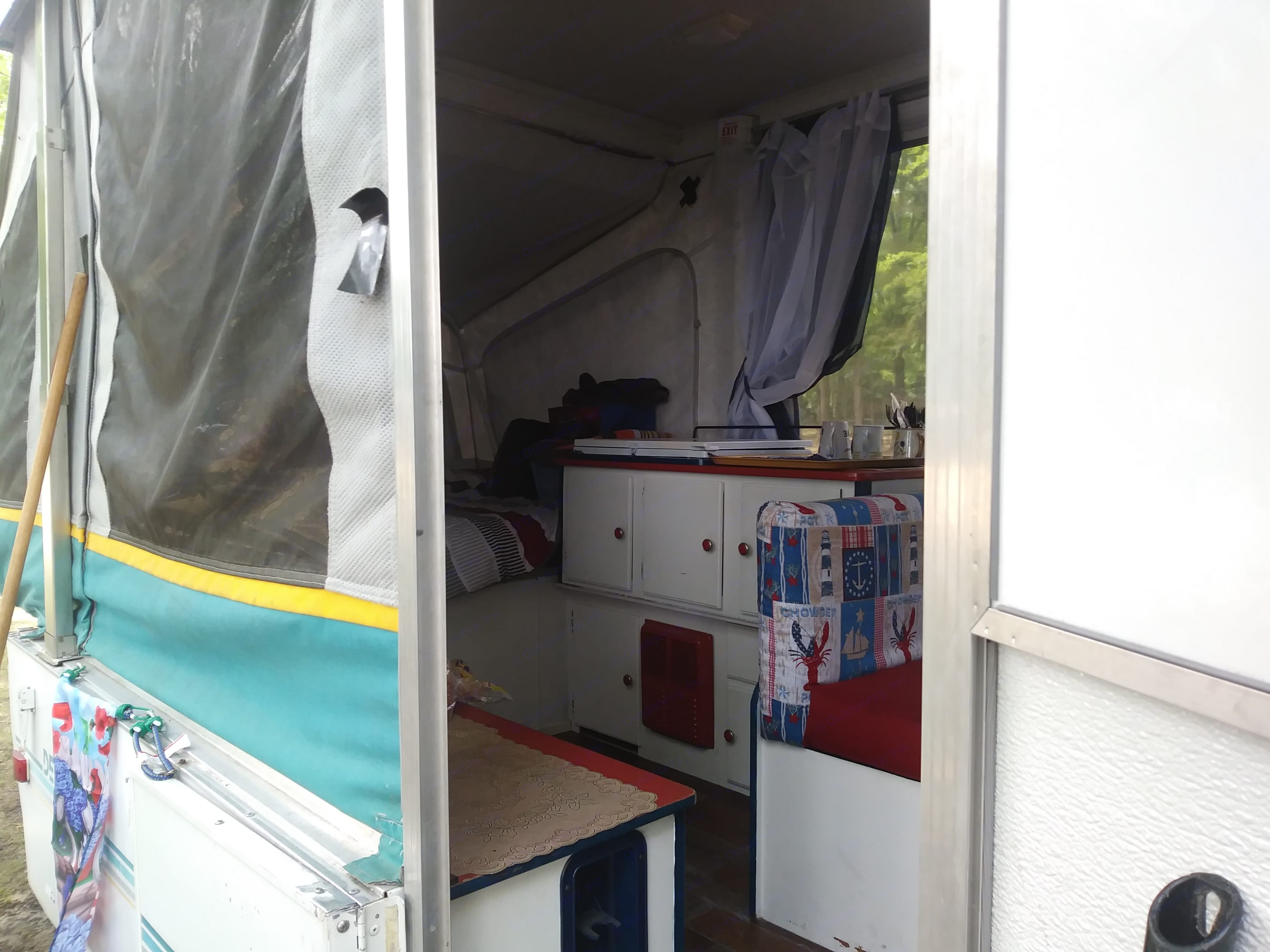 View coming into camper. Coleman Destiny Royale 1993