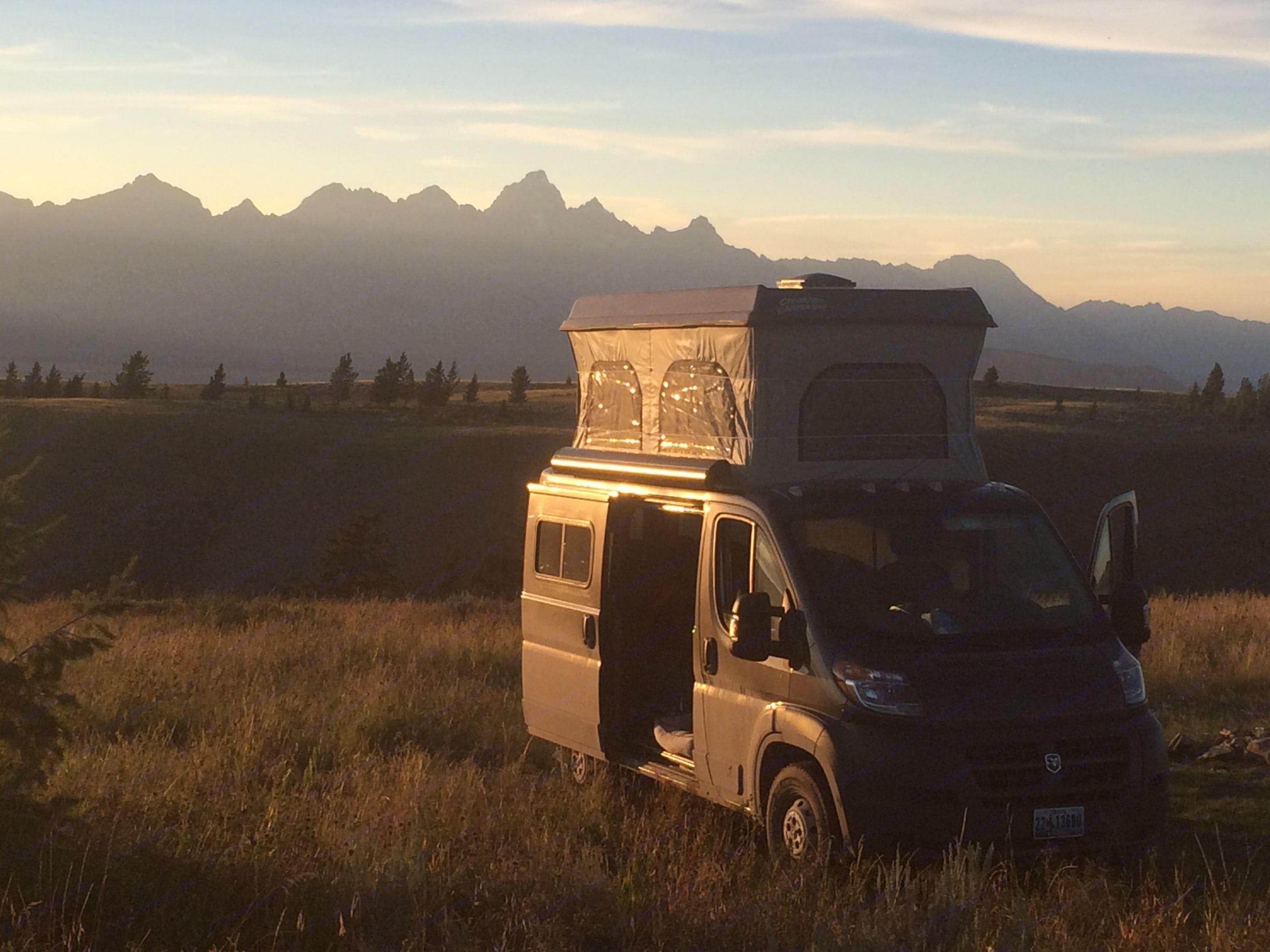 Camping just a few miles from downtown Jackson!. Dodge Promaster 1500 2017