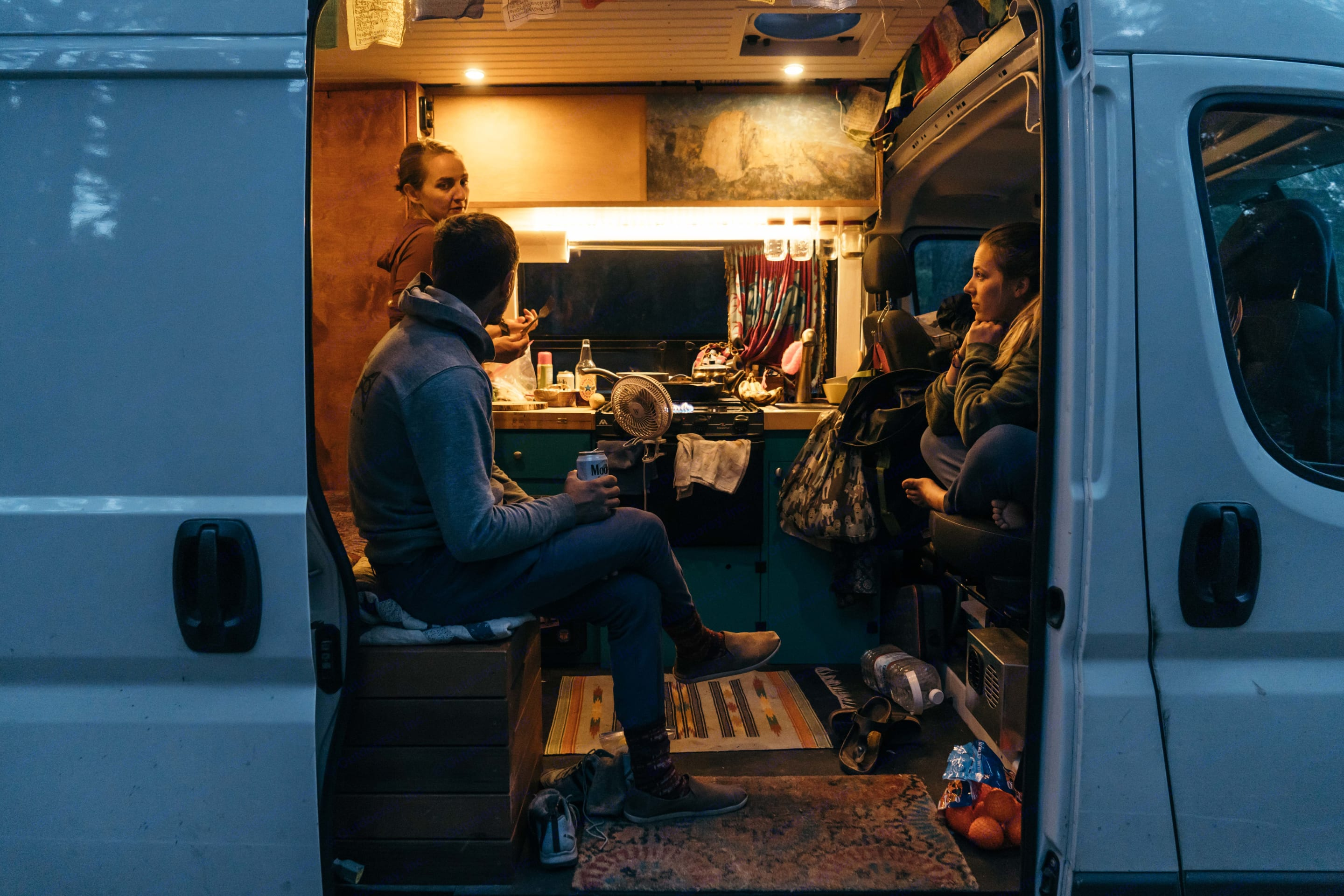 """Host dinner parties and hang with friends in the cozy setup that comfortably seats 4+.. Dodge Ram 2500 High Roof 159"""" 2016"""