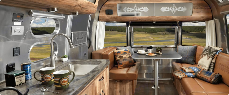 Dining Area. Airstream Pendleton Limited Edition 2016