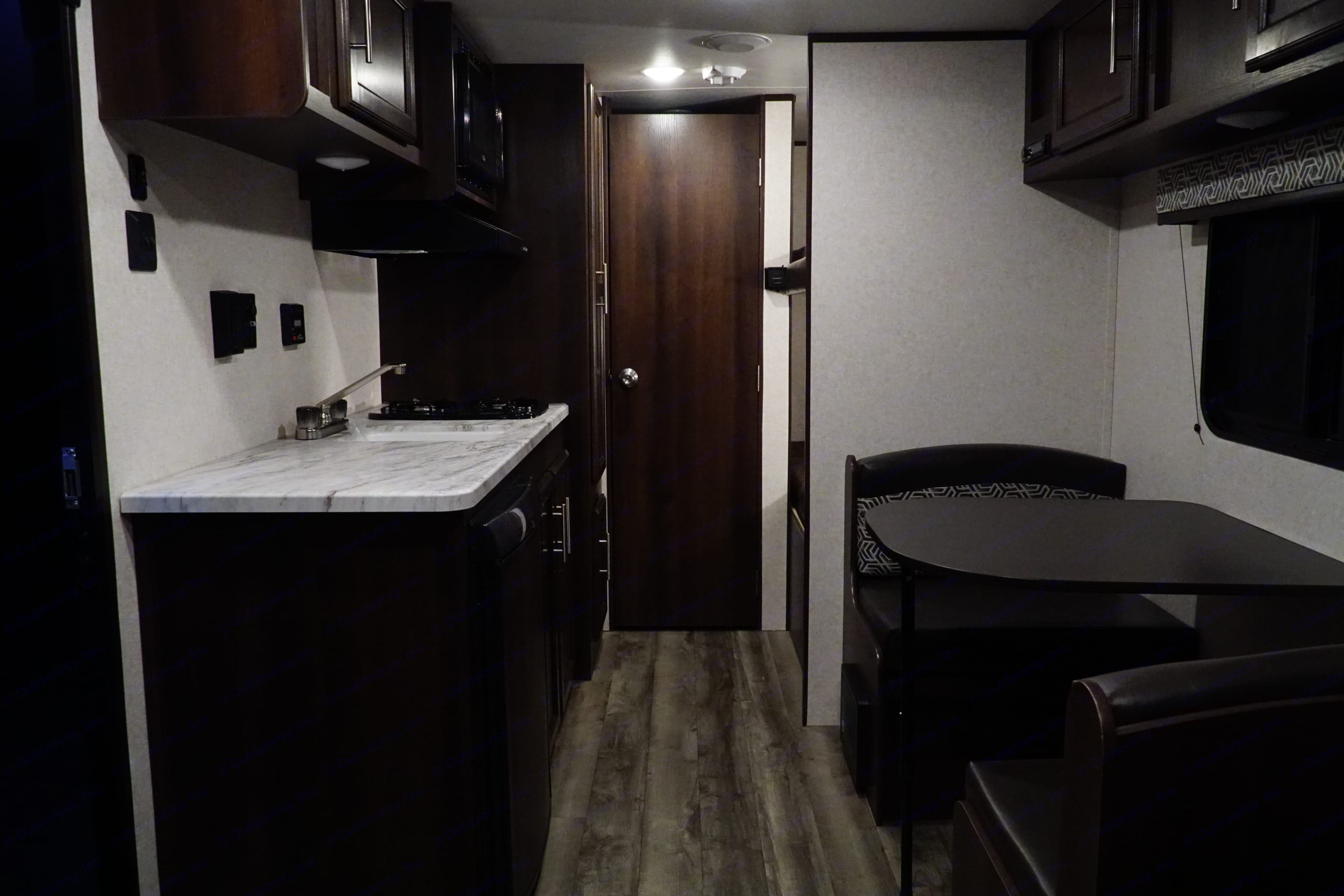 Kitchen area has actual counter space!. Jayco Jay Flight 2019