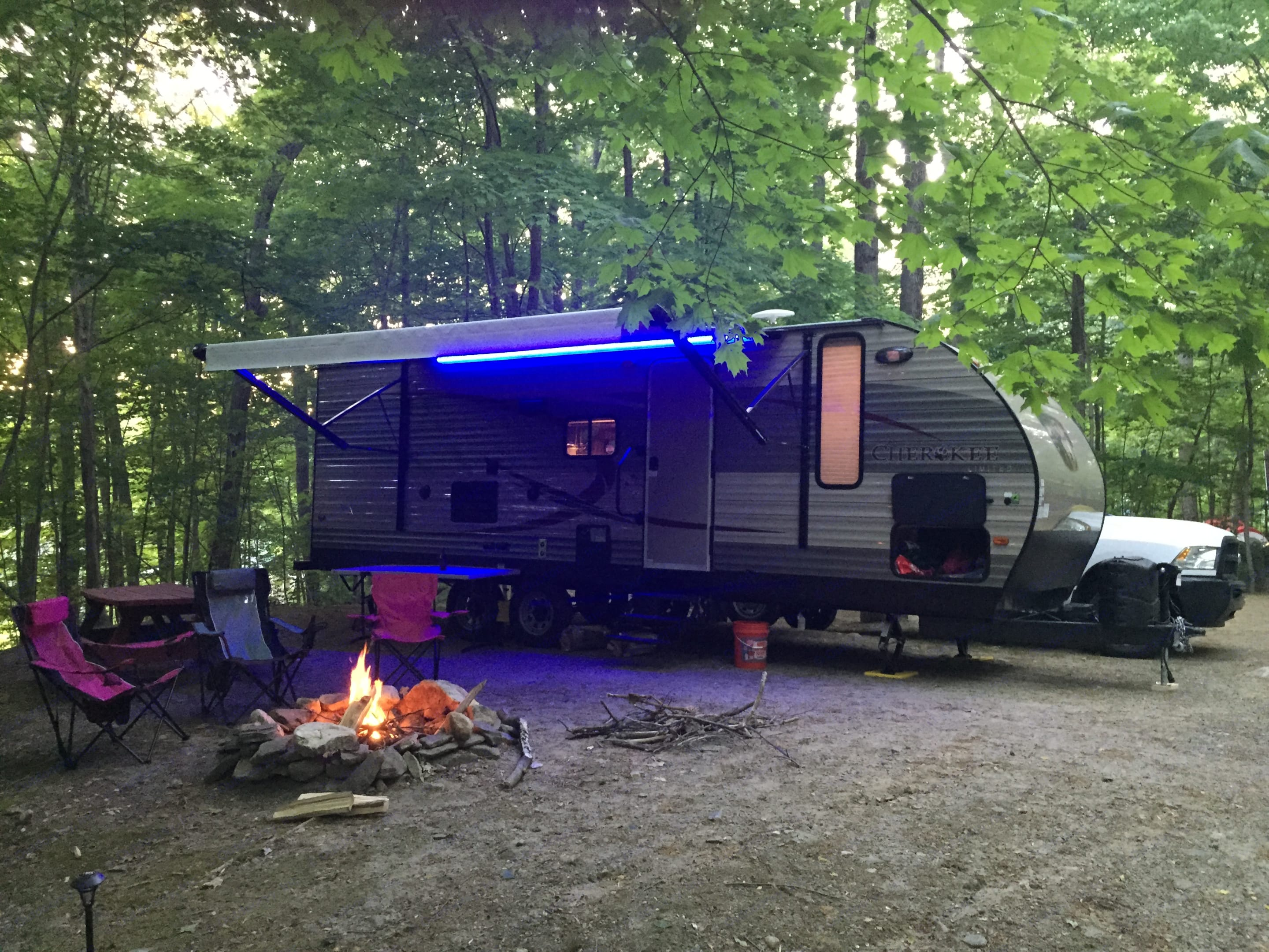 All set up and ready for fun. Forest River Cherokee 2015