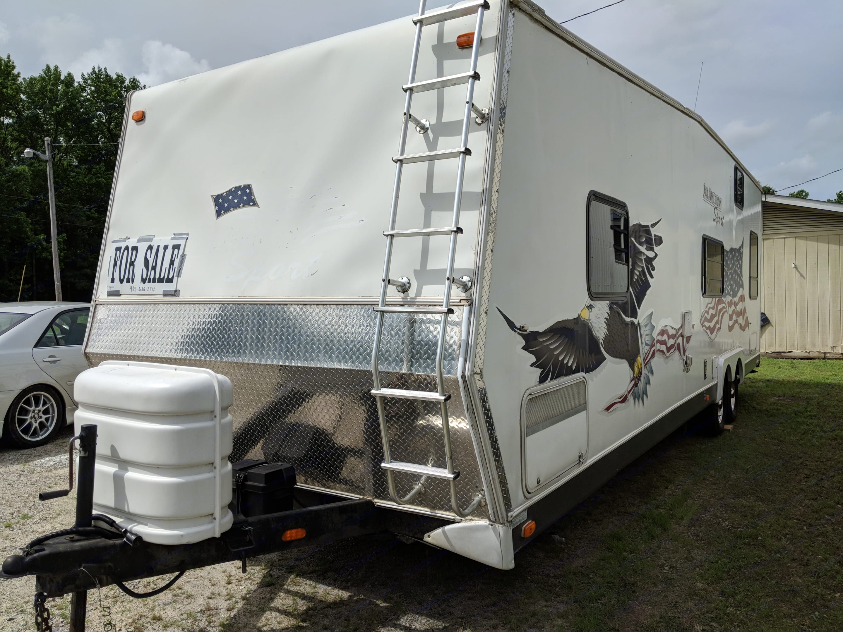 Just added a new electric jack with remote!. American Sport Trailer Company 25fkv Xlr Toy Hauler 2005