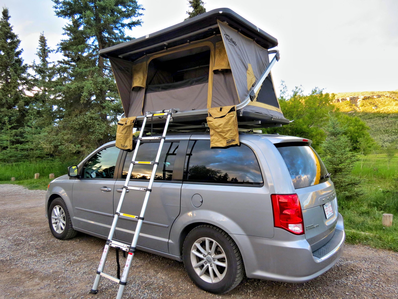 Pop up tent is set up in seconds.. Dodge Grand Caravan 2015