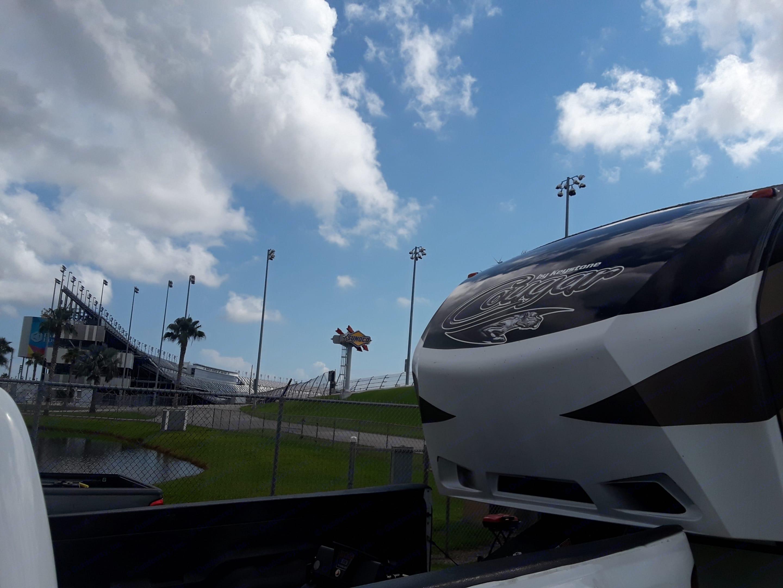 Daytona speedway my most popular rental spot turn 3. Keystone Cougar 2015