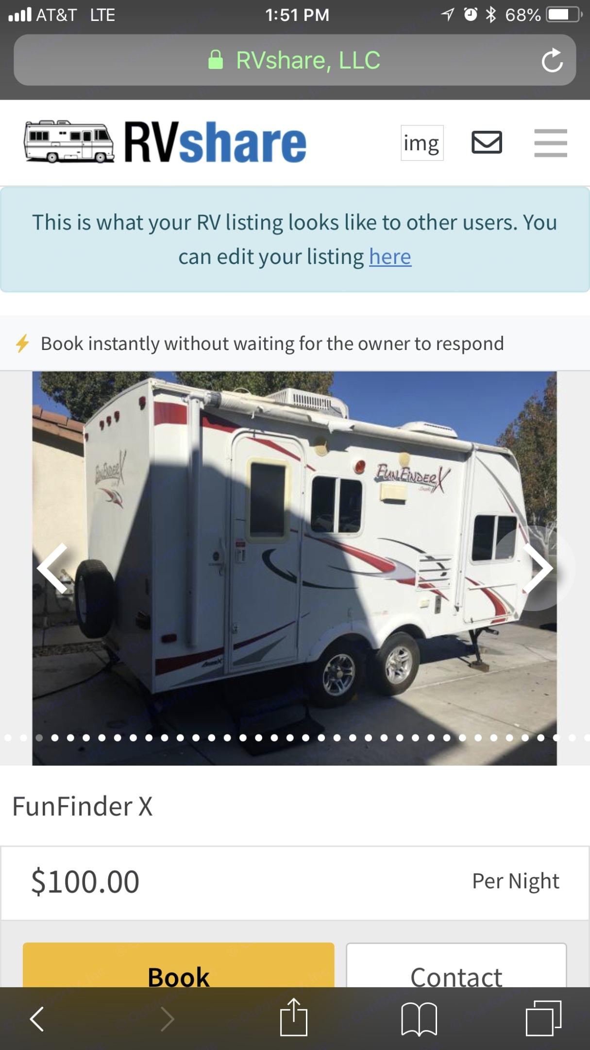 Cruiser Rv Corp Fun Finder 2009