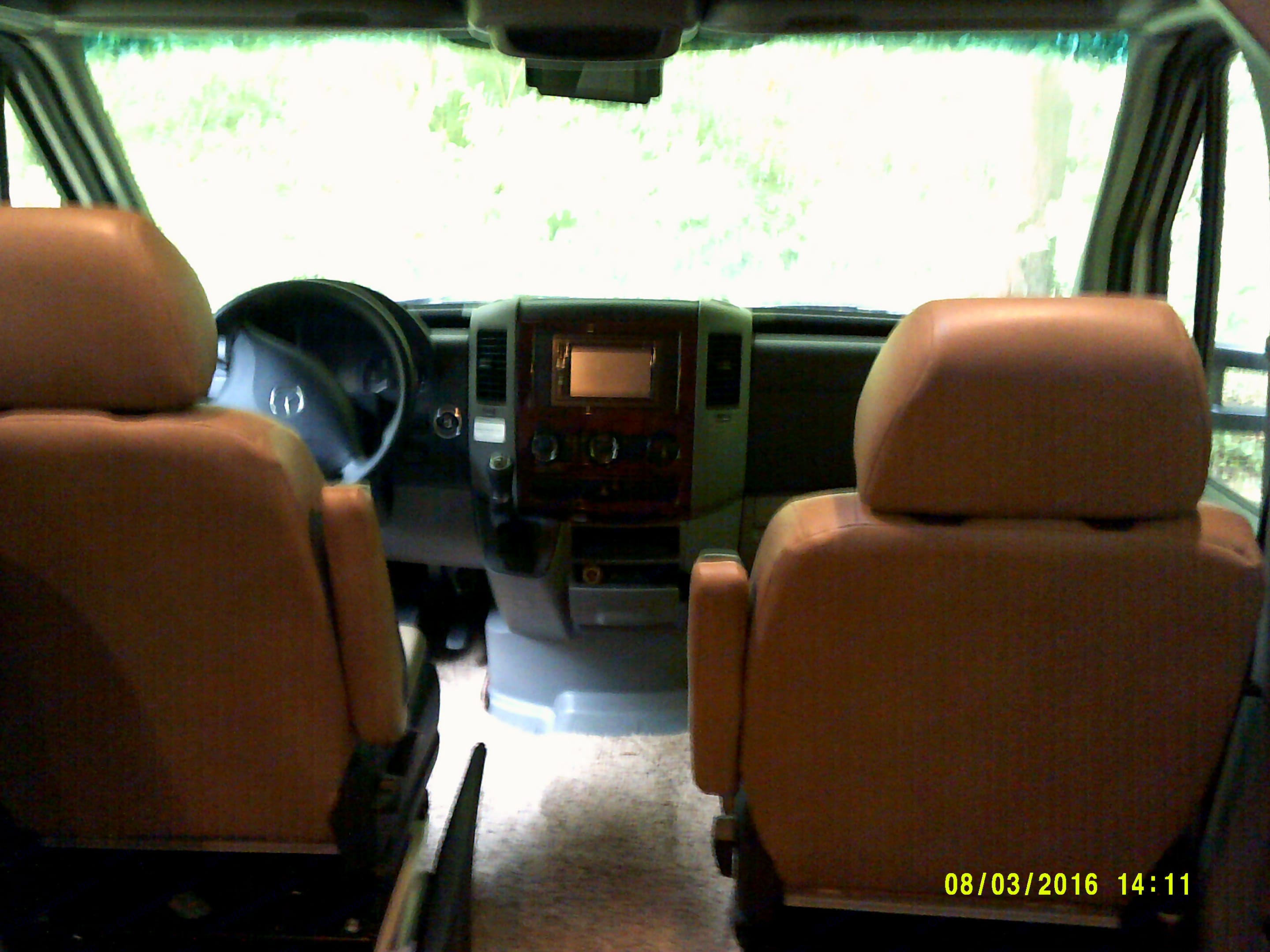 Roomy cab area. Forest River Forester 2015