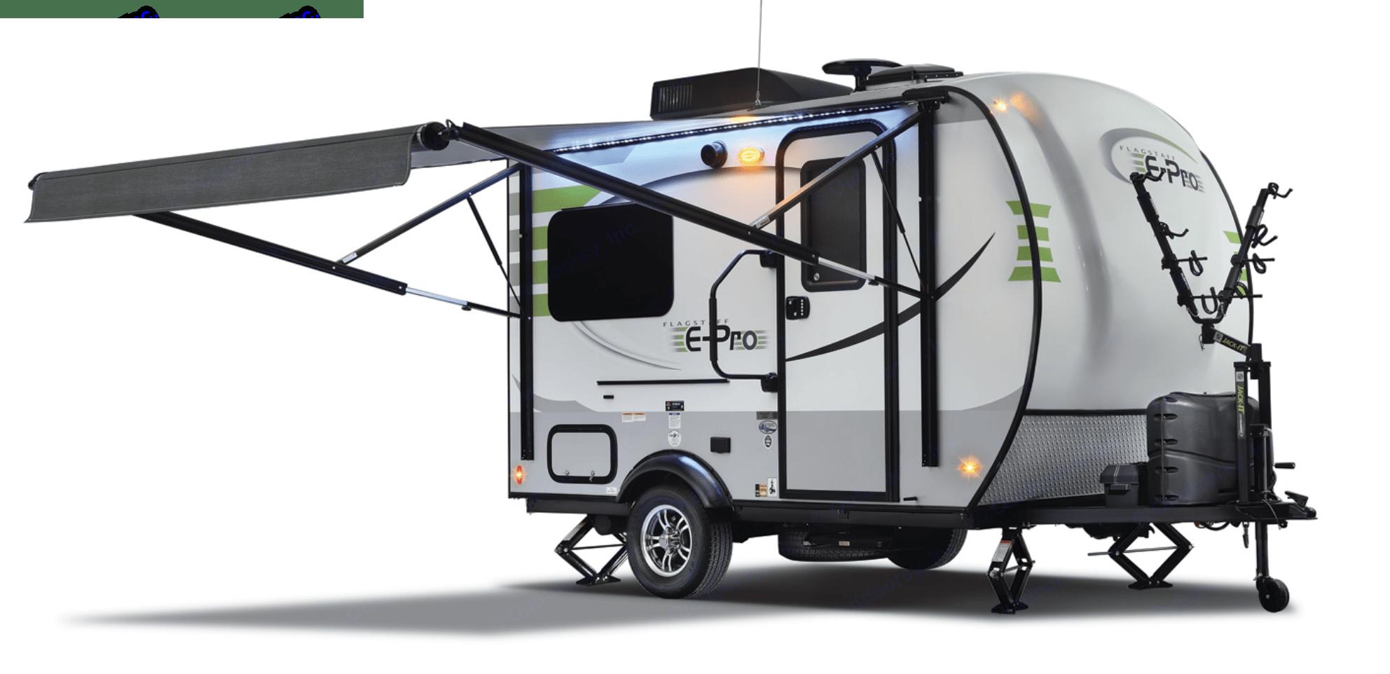 14' Micro Trailer - 2 Person with bath. Flagstaff E-Pro 14' Longs Peak 2018