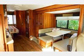 Roomy dinette converts to kids bed with lots of storage under the seats!. Forest River Fr3 2014