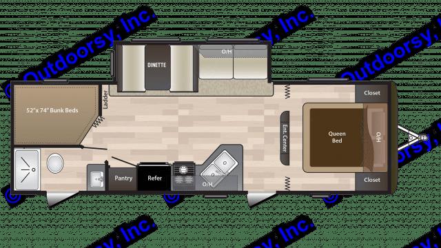 Interior Layout. Keystone Hideout 2018