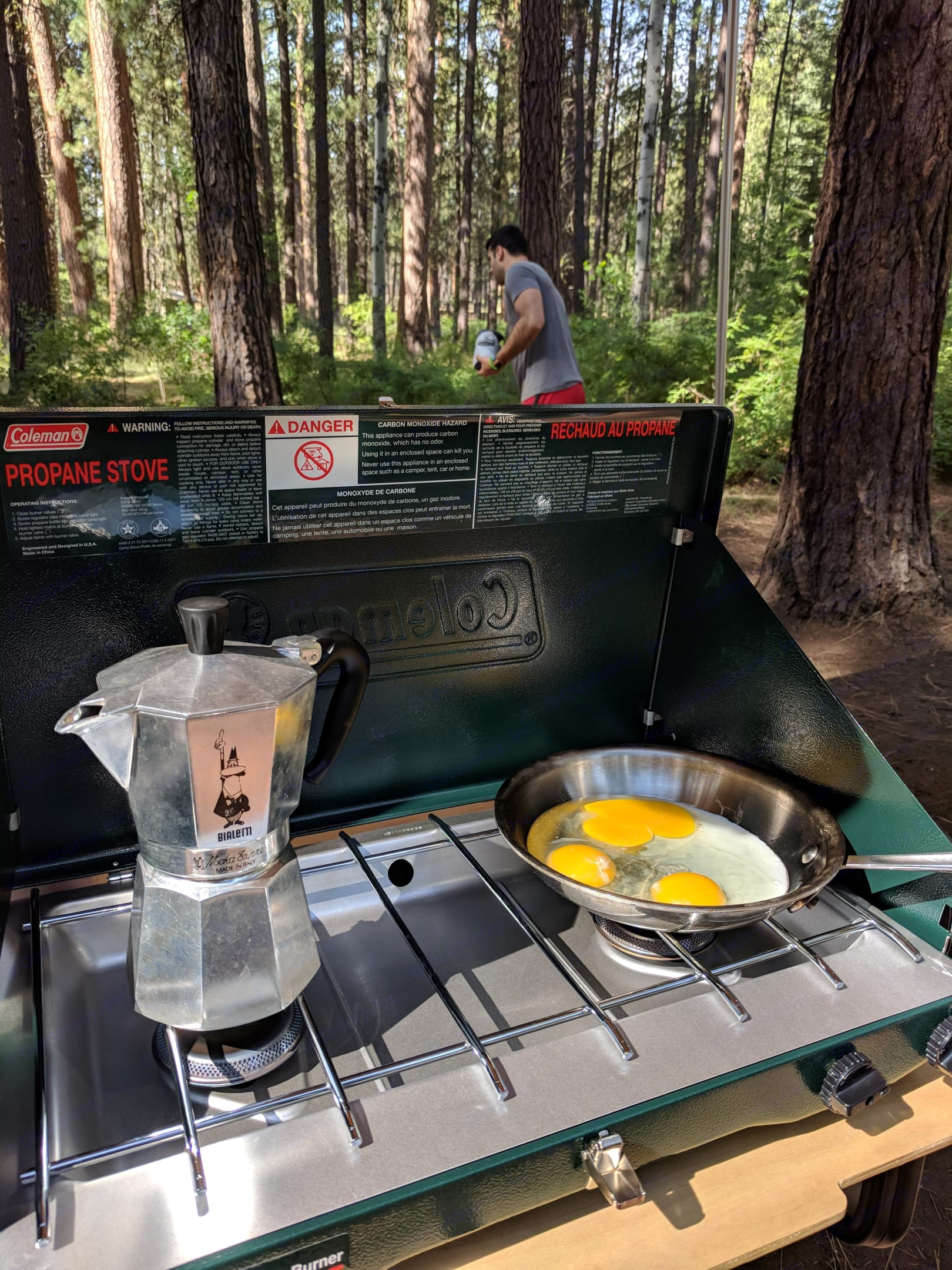 Cooking necessities included with rental - including a coffee percolator :) Only thing you'll have to pack is your own propane. We have a 4ft adapter to hook up to a large propane tank, or you can bring any small camping fuel propane as well. . TAXA Outdoors Tigermoth Camper 2018