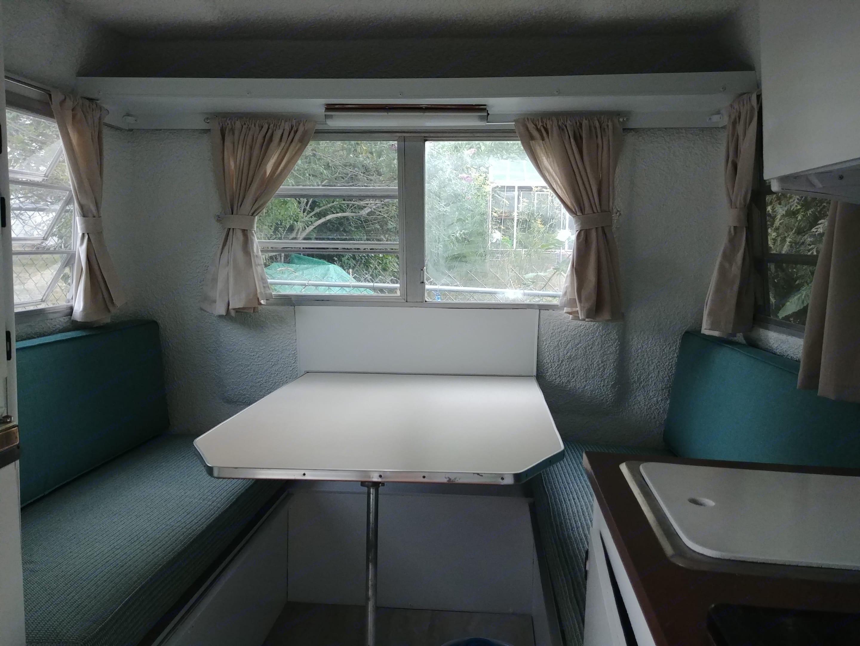 Dinette seats 3 comfortably!. Trillium Rv Jubilee 1981