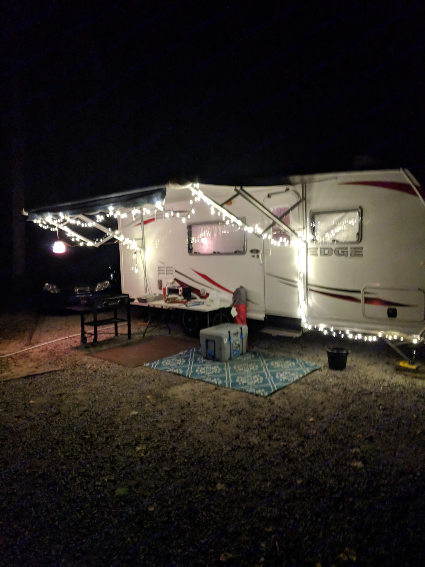 Night time at Harrison Bay State Park. Home sweet Home.. Heartland Edge 2012