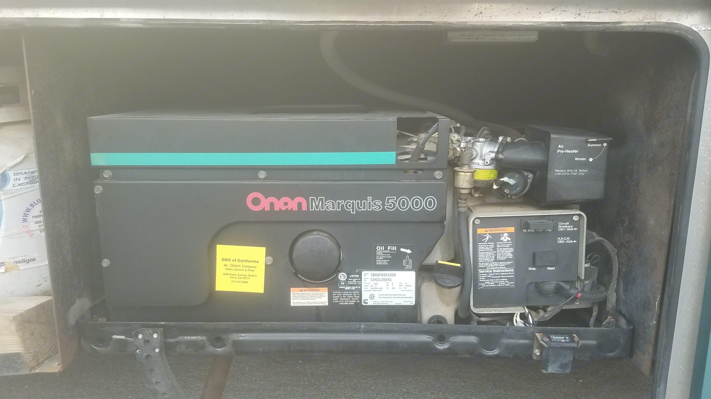 5000 watt on an generator . Thor Motor Coach Residency 1994