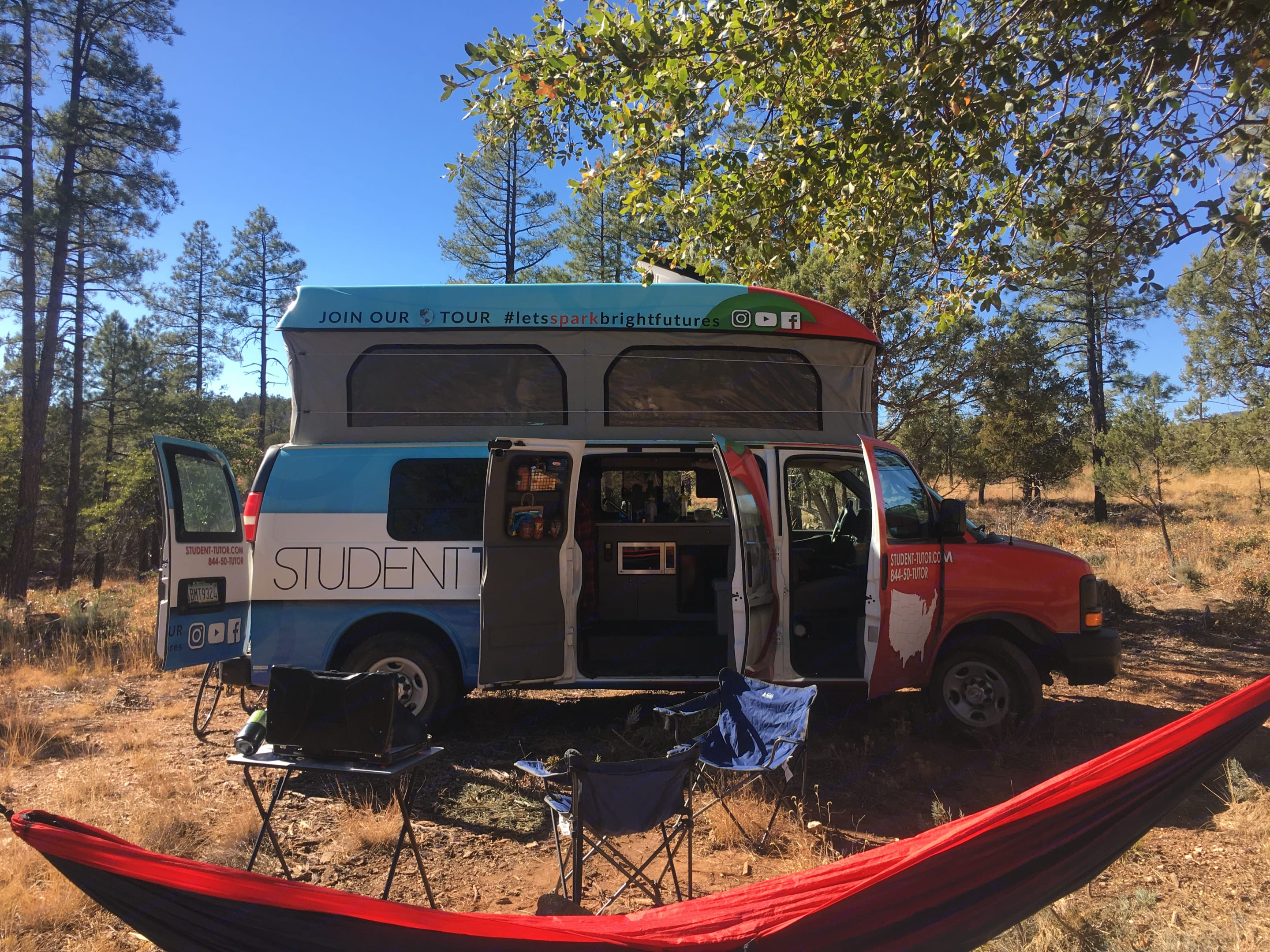 Includes two portable chairs, hammock, and more! . Chevrolet Open Road 2014