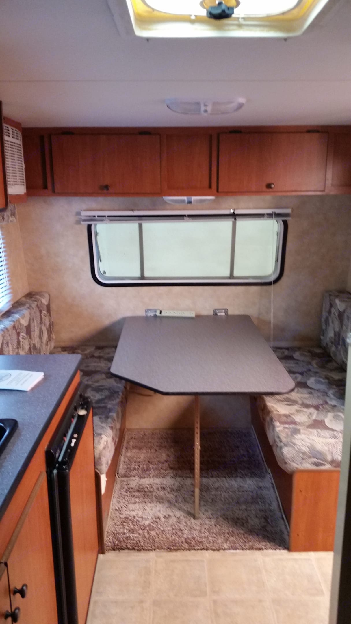 Dinette converts to double bed. . K-Z Manufacturing Sportsman Classic 2011