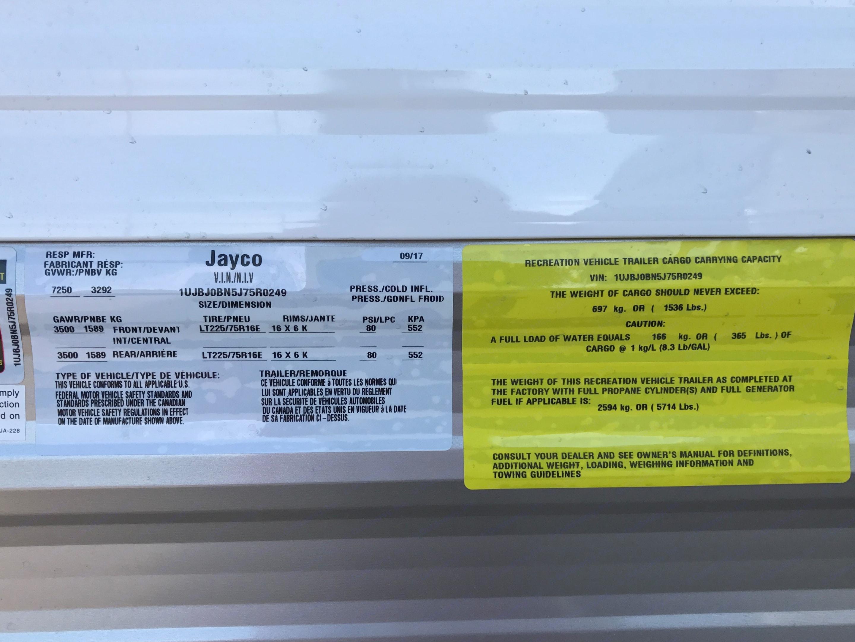 Specs. Jayco Jay Flight 2018
