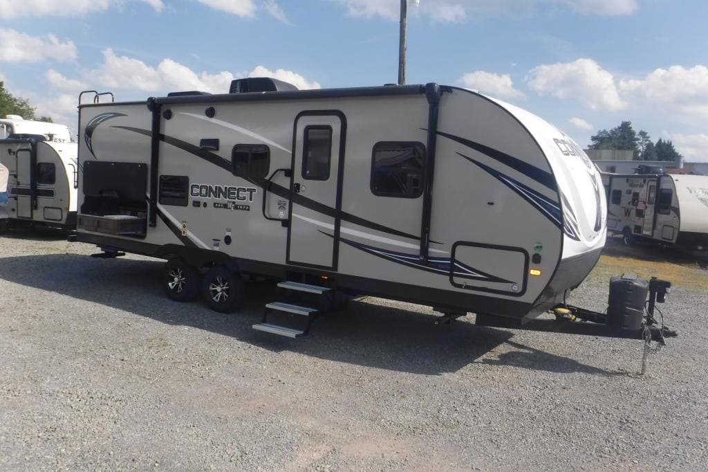 Front of RV . K-Z Manufacturing Connect 2018