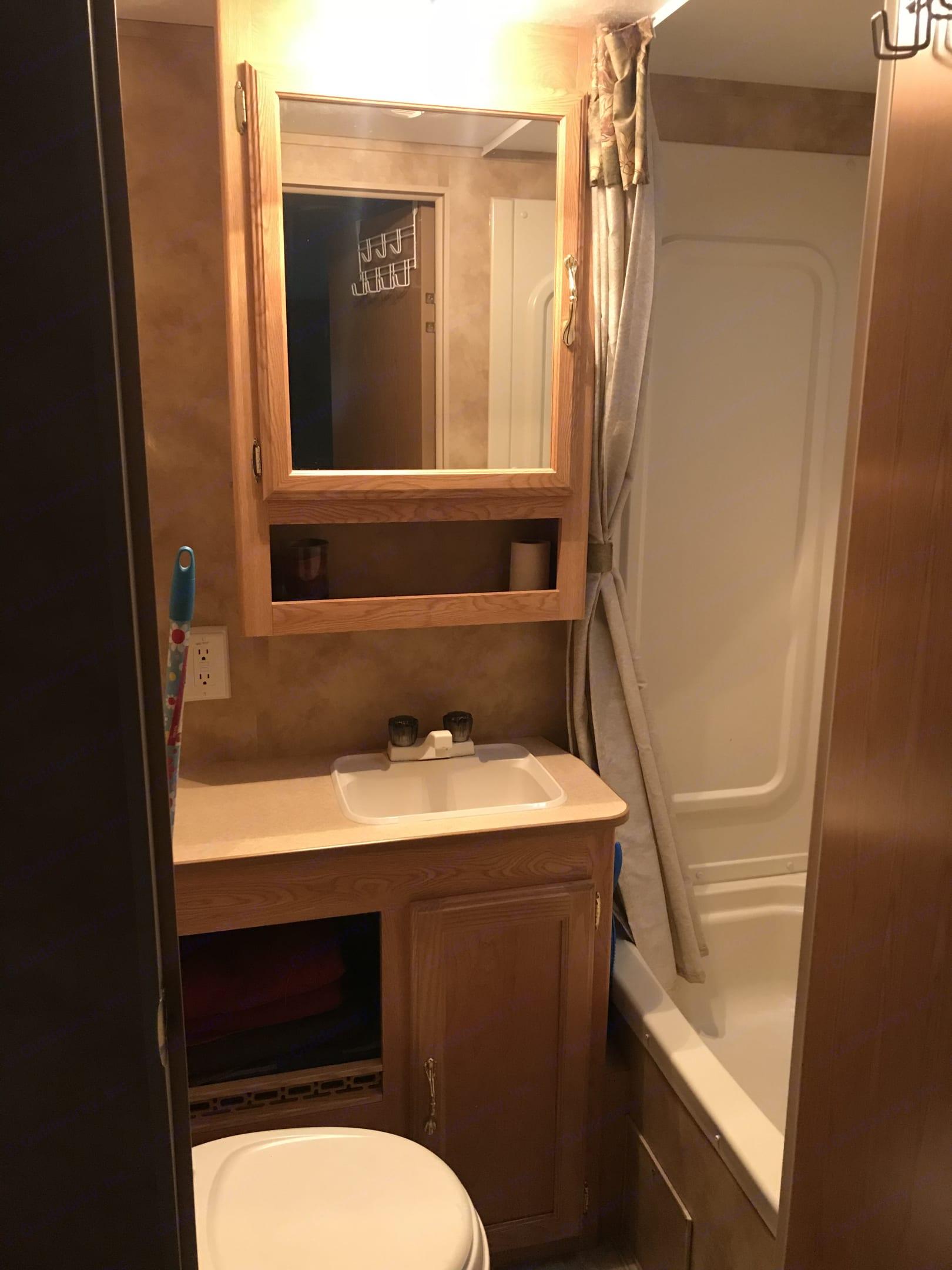 Small full bathroom . Keystone Hornet Sport 2006