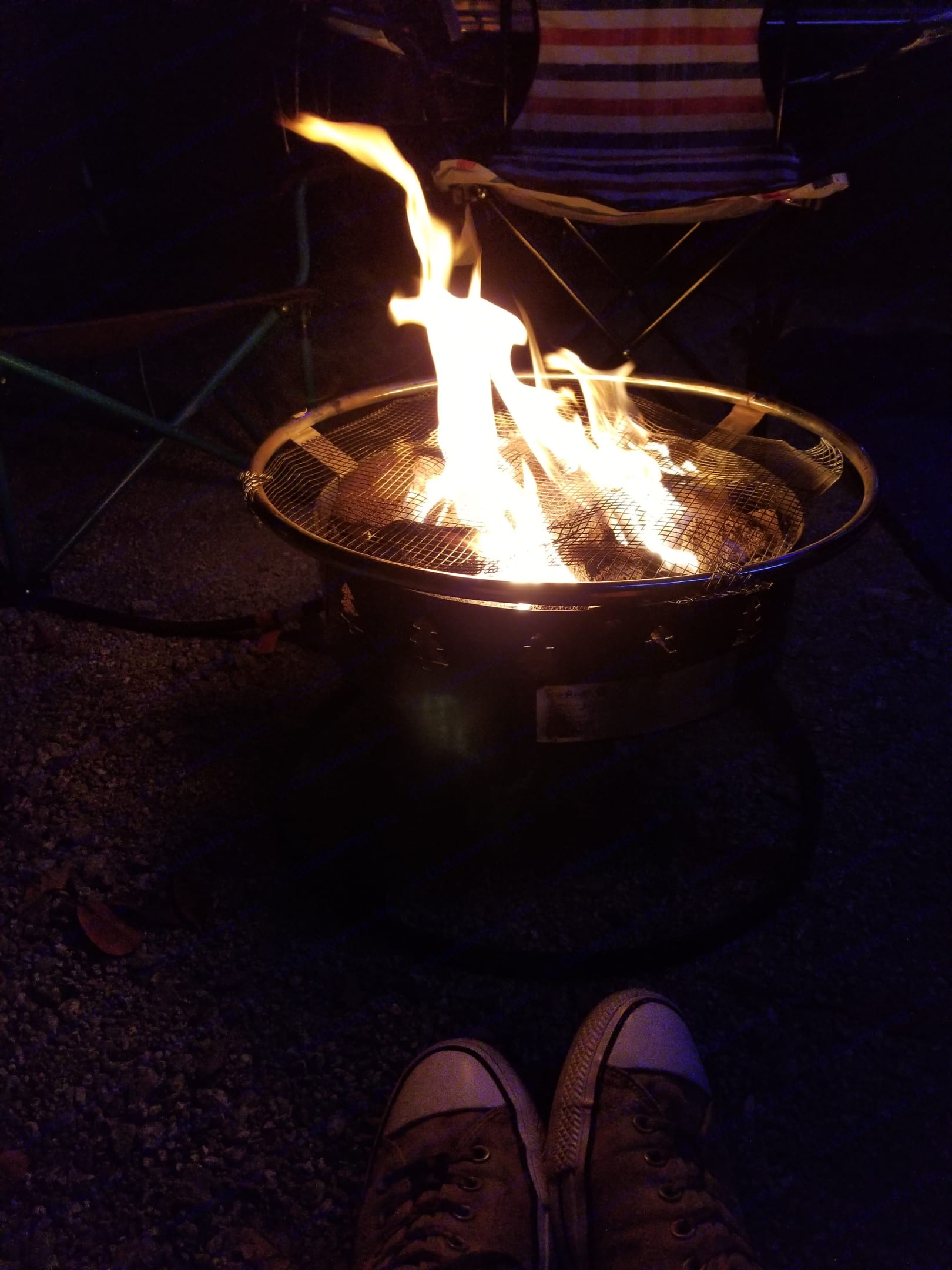 Optional gas fire pit for those locations where firewood is not allowed. . Terry Other 2019