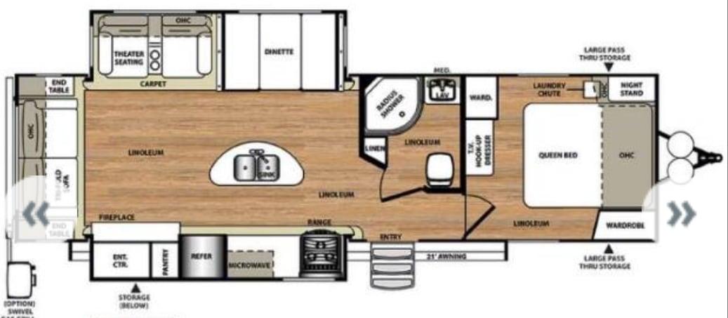 Lots of floor space.. Forest River Salem Hemisphere Lite 272RLIS 2015