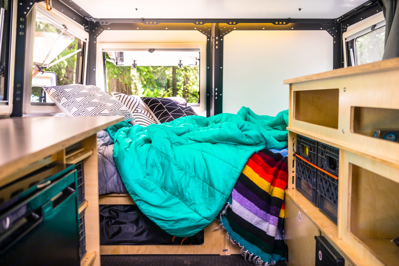 Queen bed.. TAXA Outdoors Mantis Camper 2018
