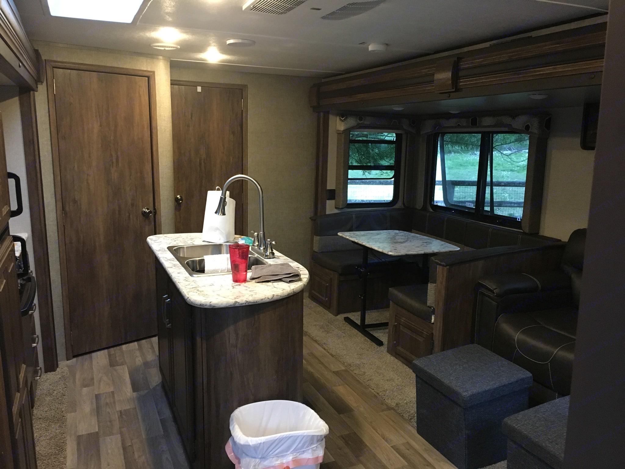 Kitchen island and large pantry. Keystone Cougar Half-Ton 2018