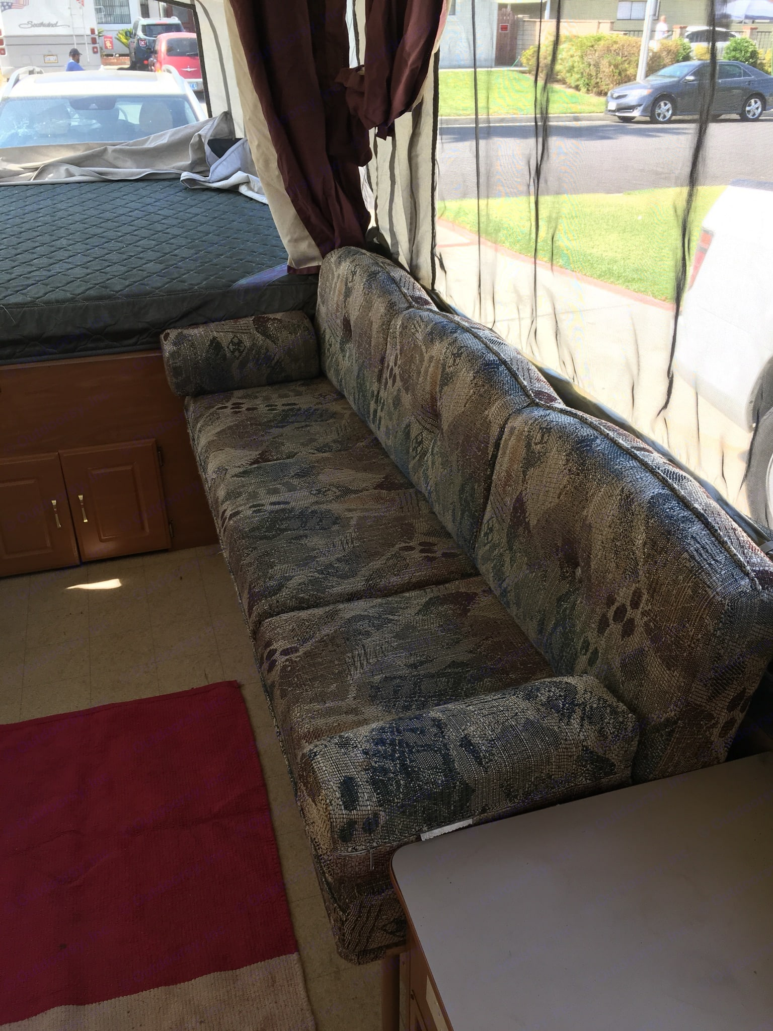 Sofa, extends to twin bed. fits 1 person. Coleman fleetwood Utah 2002