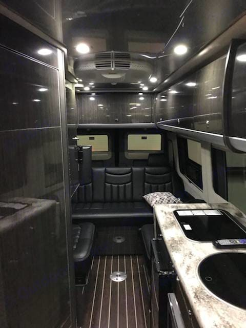 Plush interior with LOTS of cabinet and drawer space. Airstream Interstate 2014