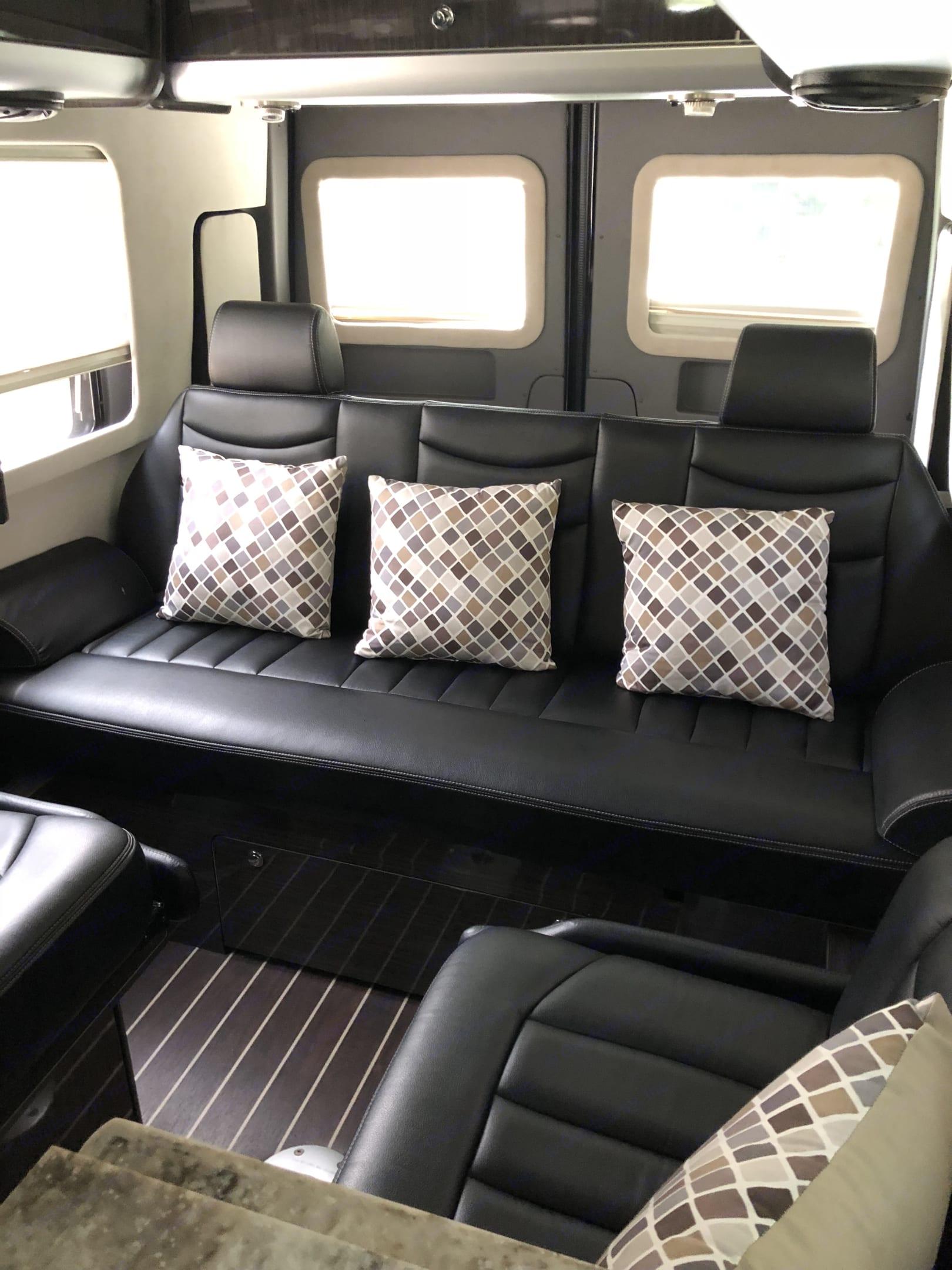 Plush Bench seating . Airstream Interstate 2014