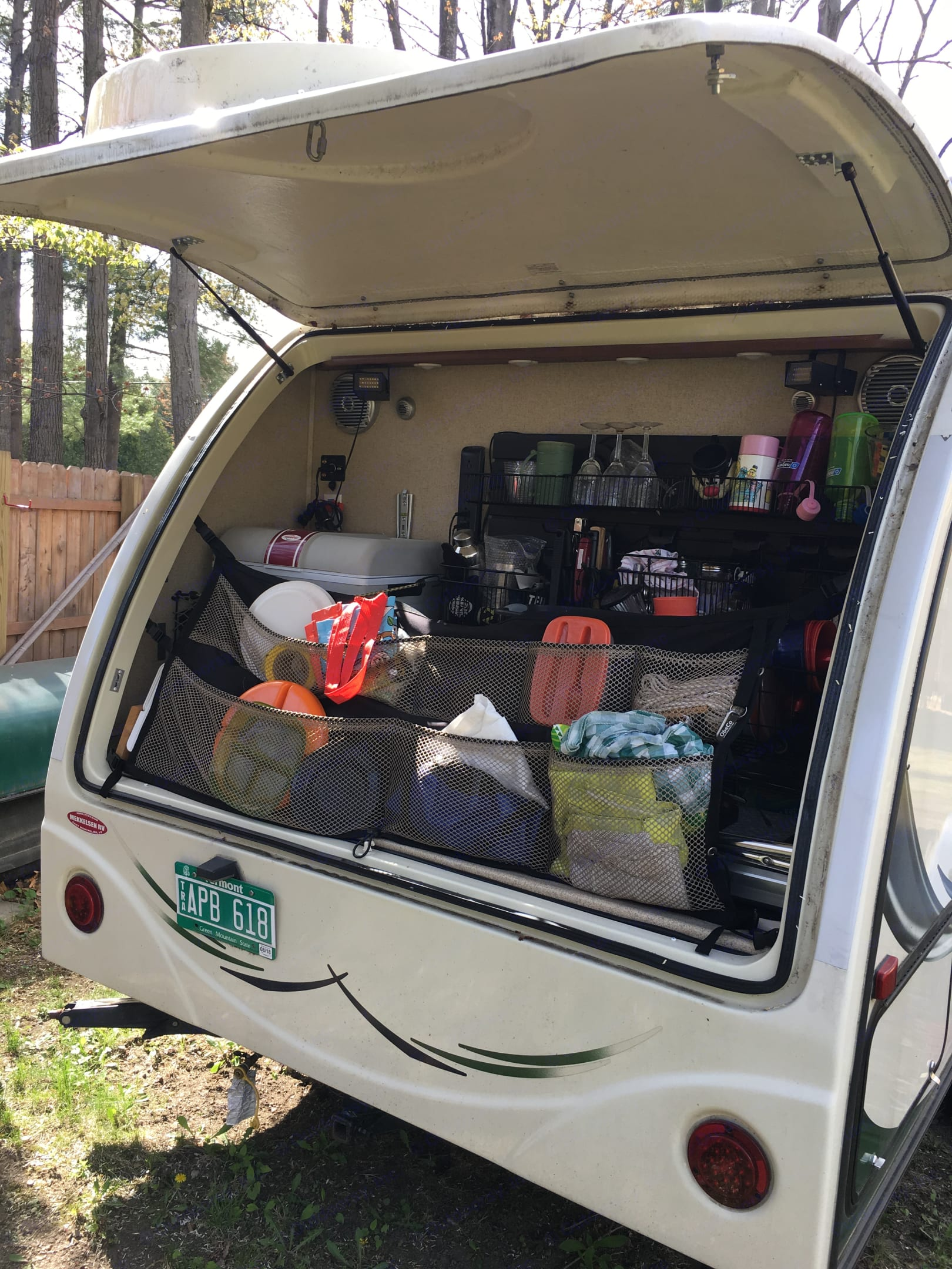 Rear Garage **Fully stocked. Forest River R-Pod 2014