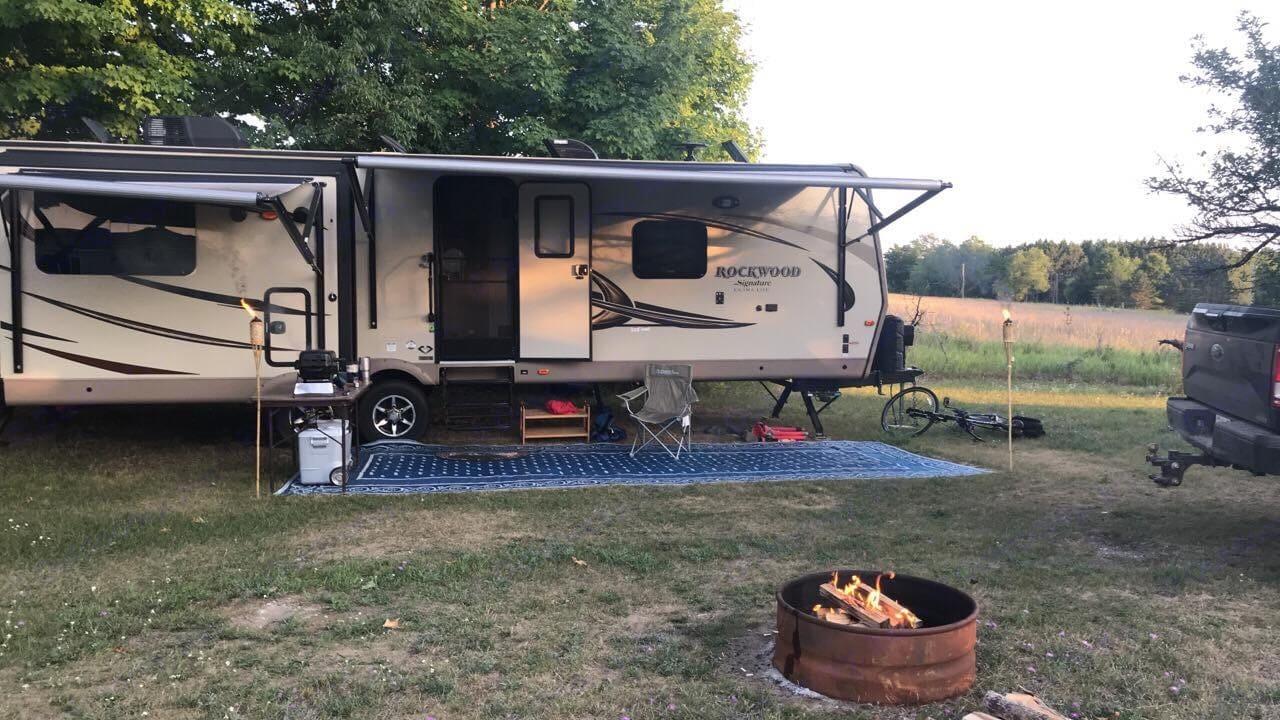 Potential Campsite Setup. Rockwood Signature Ultra Lite 2017