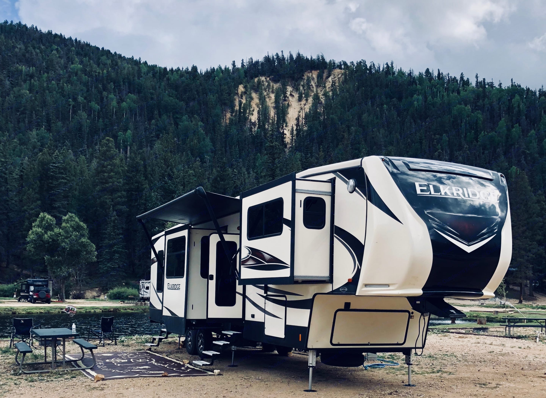 Enjoying the beautiful mountains of Red River, NM.. Heartland Elkridge 2018