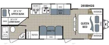 Very space floor plan for a trailer. Dutchmen Aerolite 2013