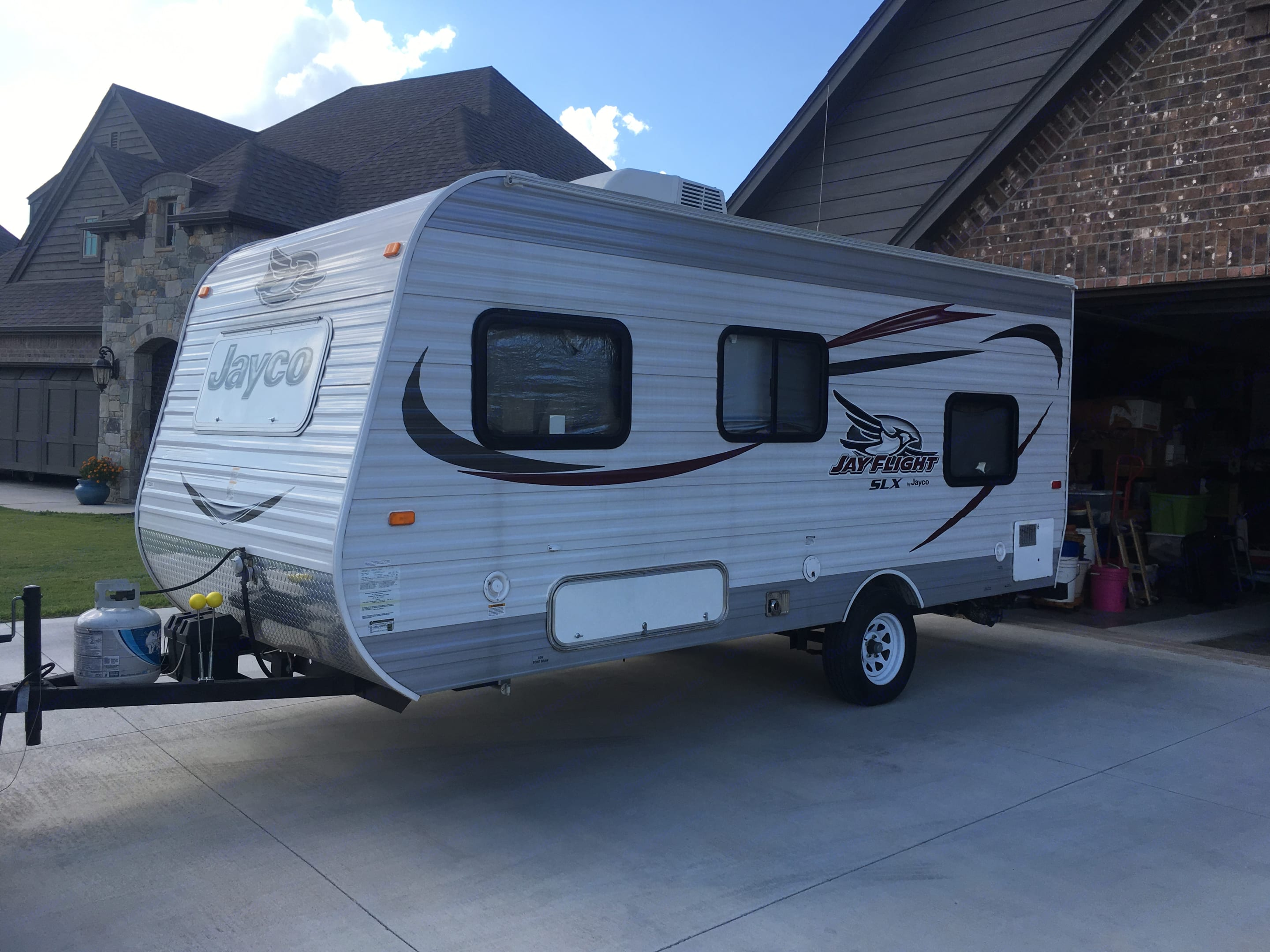 Other Side (basement, hot water heater, electrical and water connections. . Jayco Jay Flight 2015