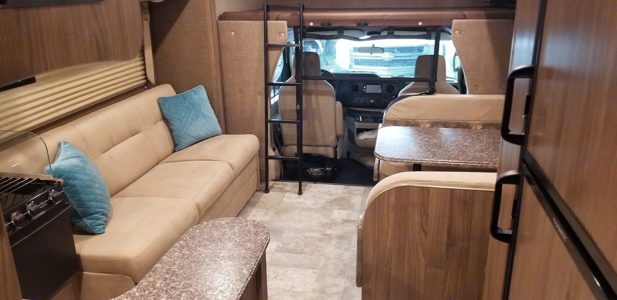 Everything brand new, and travel ready. Coachmen Freelander 2018