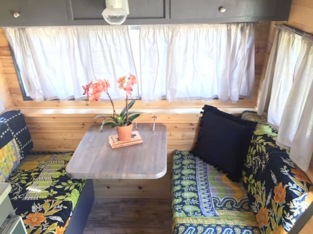 Inside Seating and dining area. Turns into a Twin sized Bed. . Vintage Trailers Other 1964
