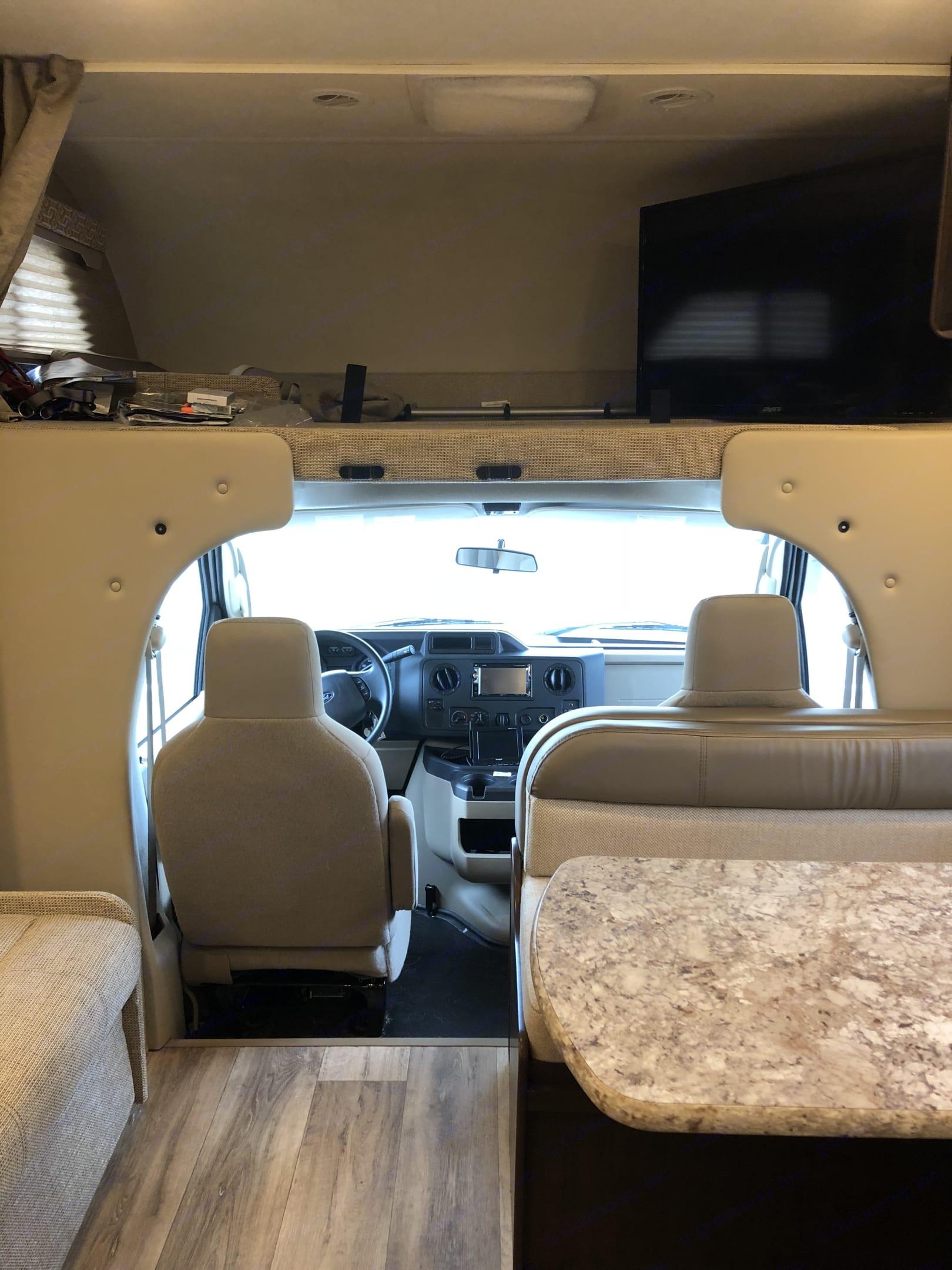 Front bunk/cab. Thor Motor Coach Freedom Elite 2019