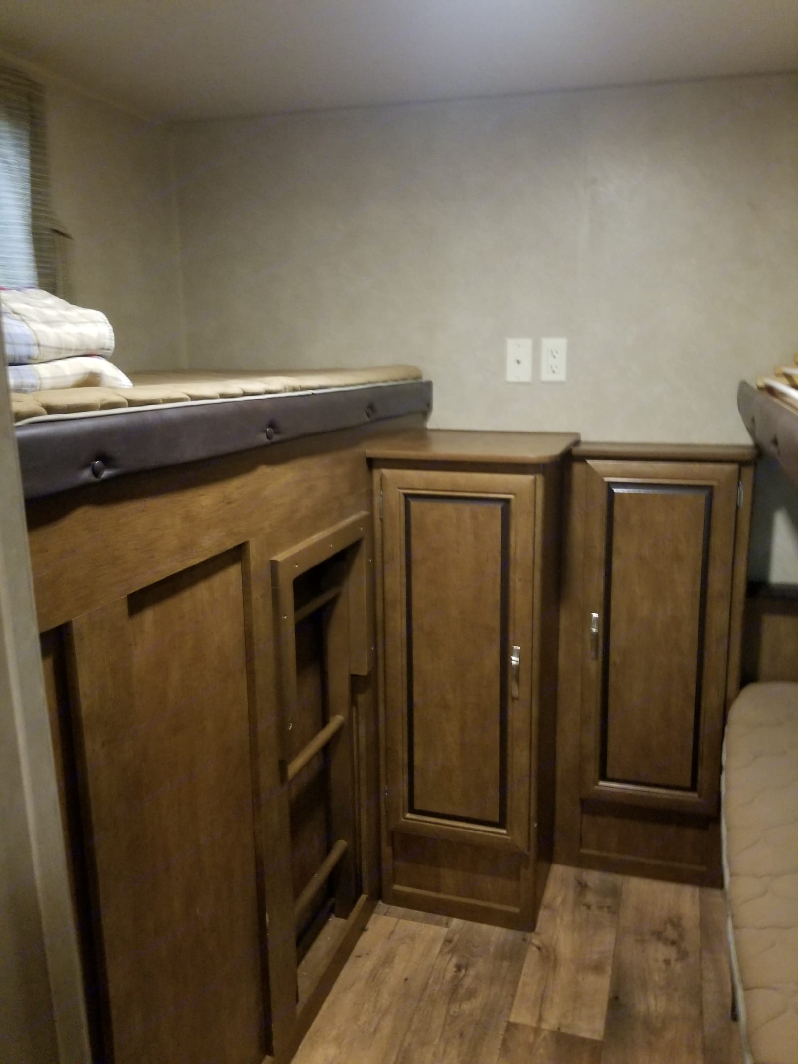 Bunkhouse - left side bunk. Forest River Wildwood 2016