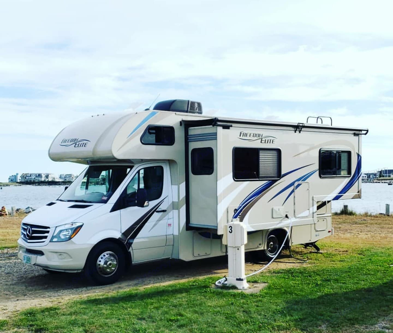 Hampton Beach State Park. Thor Motor Coach Freedom Elite 2019