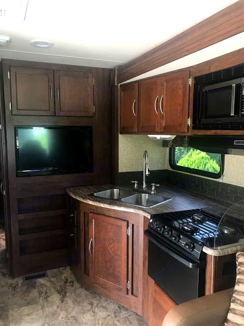 1 of 5 TVs in the rig!. Coachmen Pursuit 2016