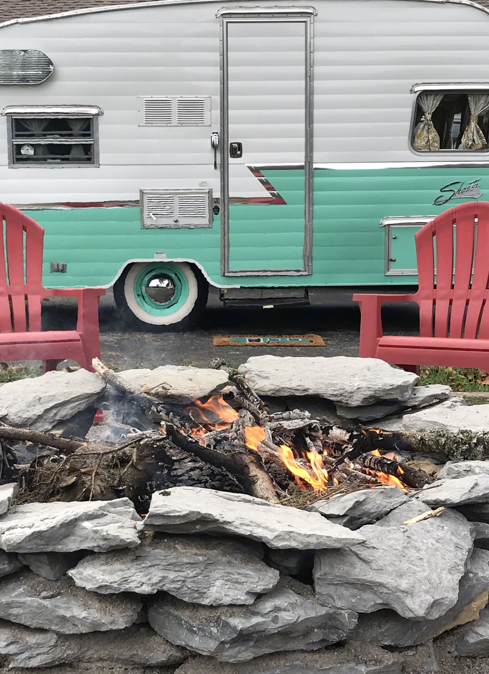 Gather around the campfire and enjoy retro camping at its finest with this mint re-issued Shasta Airflyte trailer.. Shasta Airflyte 2015