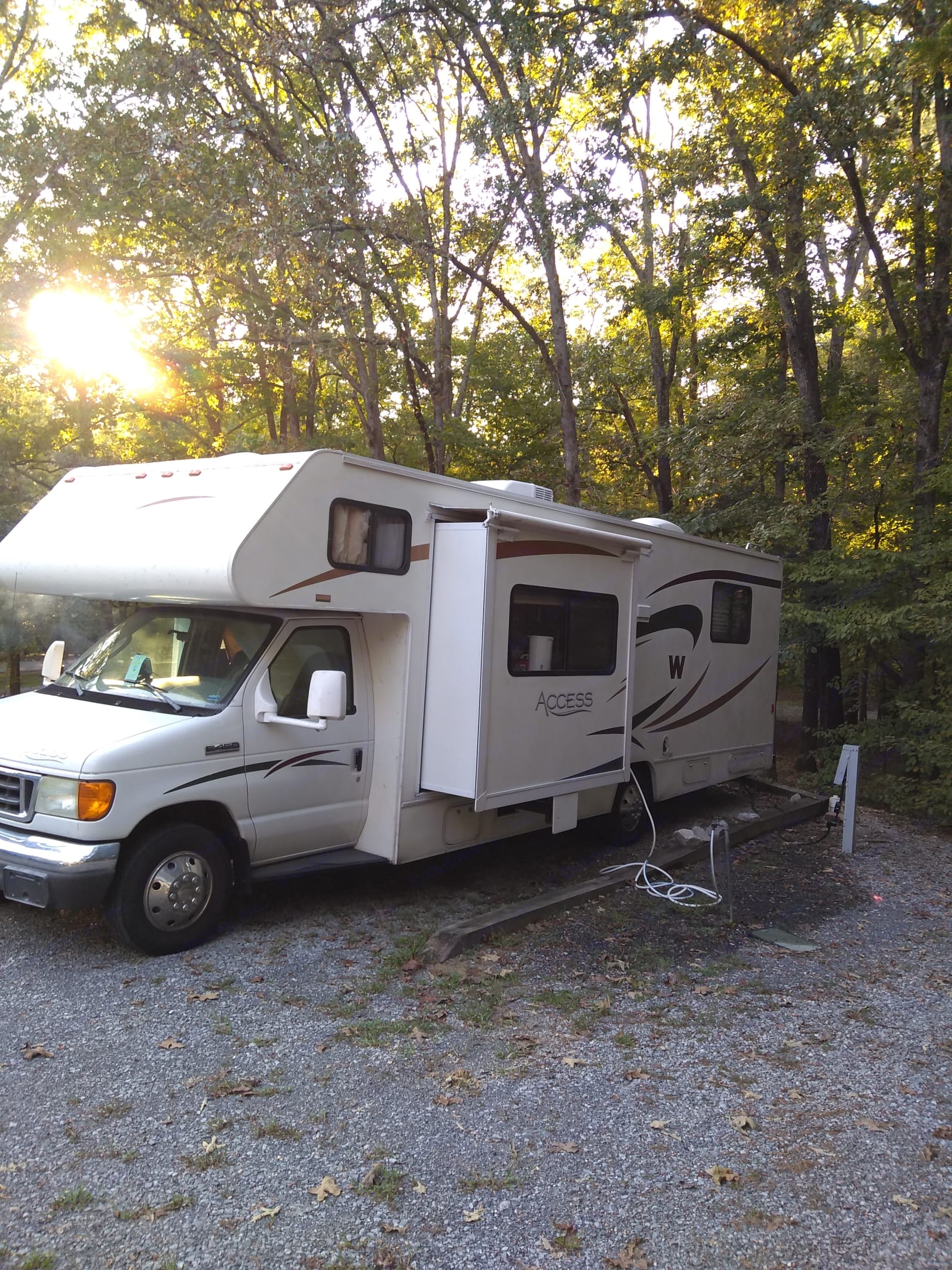 Slide out gives extra room. . Winnebago Access 2008