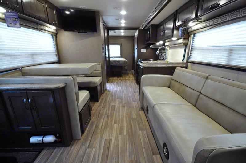 With cozy seating throughout the Class A, you're able to relax any time of day. After all your playtime, you're going to need it!. Thor Motorcoach ACE 29.3 2017